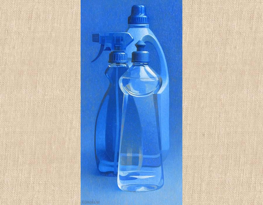 Blauwe compositie 1995