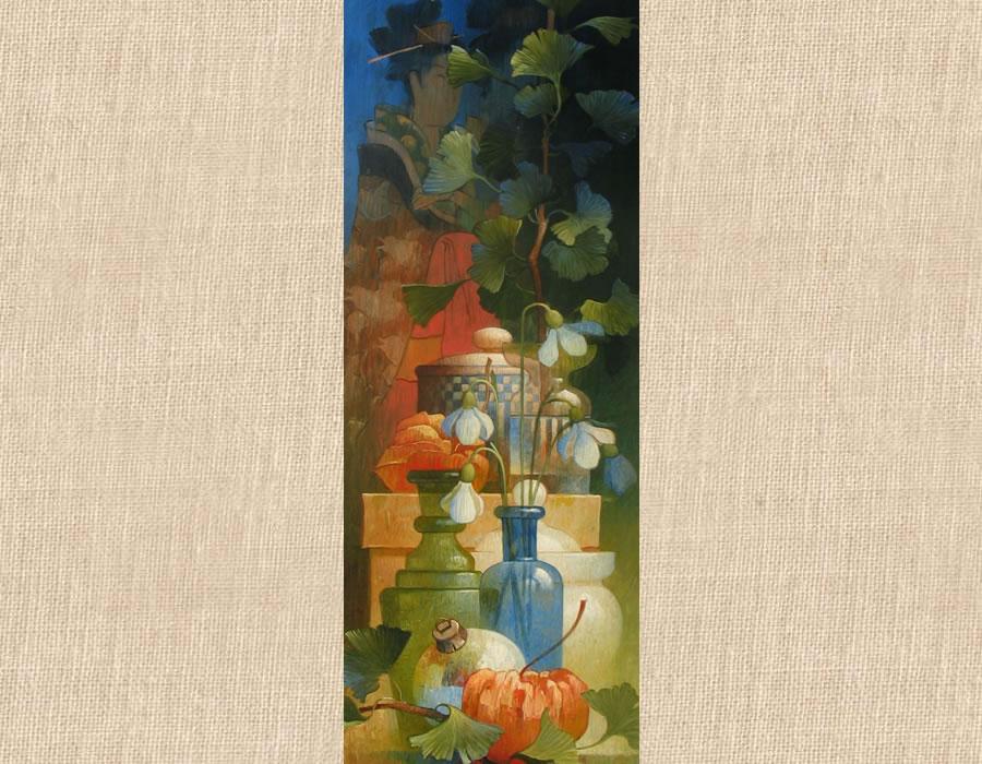 Verticaal compositie met geisha 2004